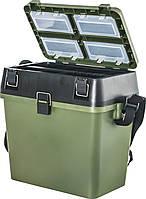 Ящик зимний PLASTIC SEAT BOX 23X35X38см
