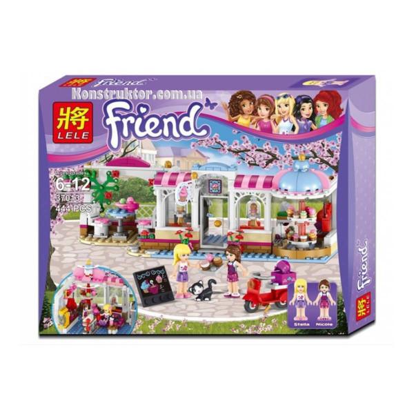 """Конструктор Lele 37013 """"Кондитерская"""" Френдс, 444 деталей. Аналог Lego Friends 41119"""