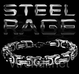 Мужской браслет Steel Rage ( silver )