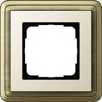 Устан рамка 1 мест ClassiX бронза кремовый