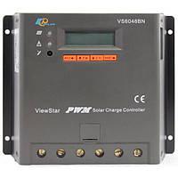 Контроллер, ШИМ 60А 12/24/36/48В  с дисплеем, (VS6048BN) EPSolar