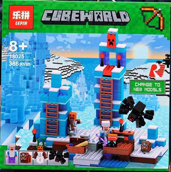 Конструктор Lepin 18025 Minecraft Майнкрафт Ледяные шипы 386 деталей