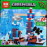 Конструктор Lepin 18025 Minecraft Майнкрафт Ледяные шипы 386 деталей, фото 1