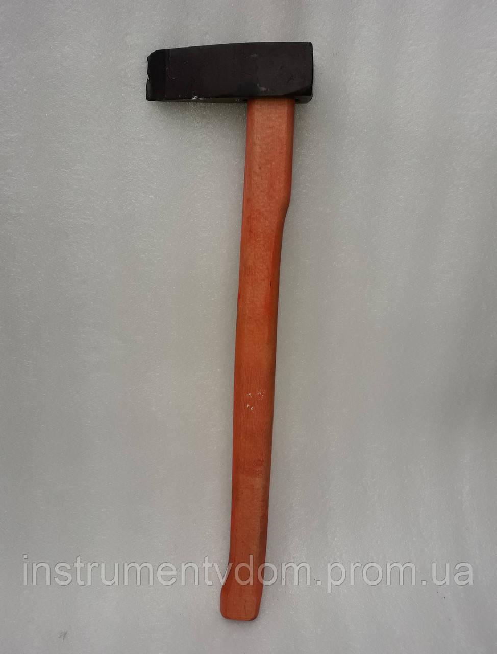 Колун кованый 3 кг (с красной ручкой)