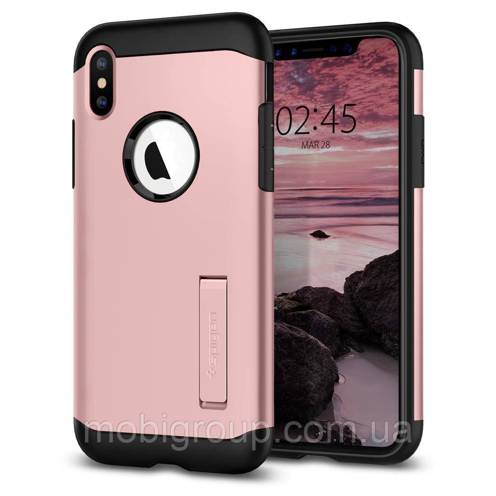 Чехол Spigen для iPhone XS Slim Armor, Rose Gold (063CS24519)