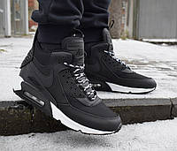 Зимние мужские кроссовки 42,43,44 размеры Nike Air Max 90 Sneakerboot Black  White 432ad11a2f2