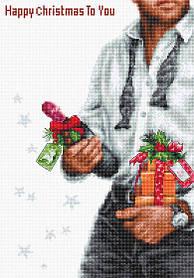 """Набор для вышивания крестиком """"Счастливое Рождество"""""""