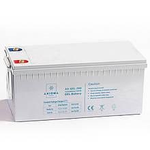 Аккумулятор гелиевый 200 Ач 12 В, AXIOMA ENERGY, модель - AX-GEL-200