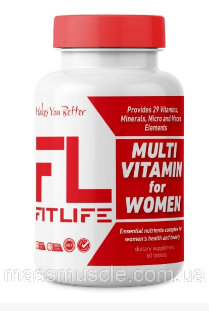 Вітаміни для жінок FitLife Multivitamin for Women 60 tabs