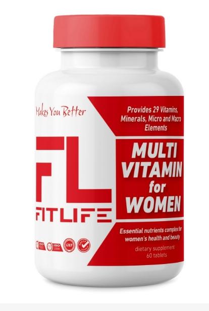 Витамины для женщин FitLife Multivitamin for Women 60 tabs