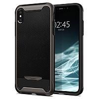 Чехол Spigen для iPhone XS Hybrid NX, Gunmetal (063CS24943)