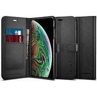 Чехол Spigen для iPhone Xs Wallet S, Black (063CS25120)