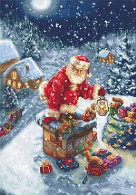 """Набор для вышивания крестиком """"Дед Мороз"""""""
