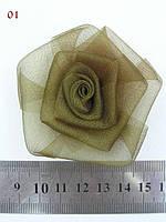 Роза из органзы, фото 1