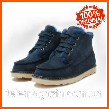 Мужские угги ботинки David Beckham Boots Dark Blue Оригинал