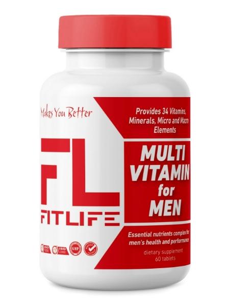 Вітаміни для чоловіків FitLife Multivitamin for Men 60 tabs