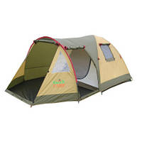 Двухслойная трехместная палатка с тамбуром GreenCamp Х-1504