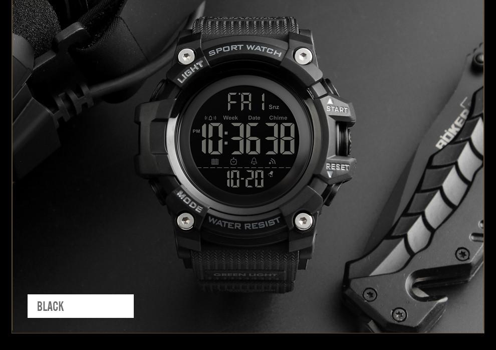 • Оригинал! SKMEI (СКМЕЙ) 1384 Black  |Оригинальные спортивные мужские часы