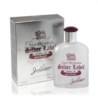 Туалетная вода JUST PARFUMS Just Homme Silver Label edt 100ml, фото 2