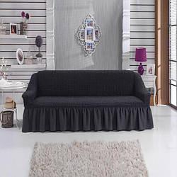Чохол на диван тримісний, Туреччина, темно-сірий