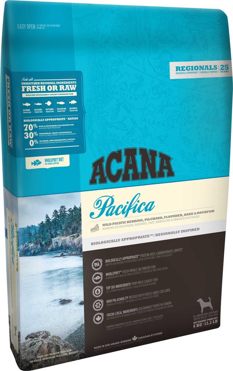 Acana Pacifica Dog (Акана Пацифіка Дог) - корм з океанічною рибою для собак 2 кг
