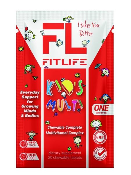 Витамины для детей FitLife Kid's Multi 20 chewable tabs