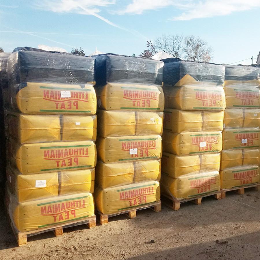 Верховой торф в мешках по 250 литров, 3.5-4.5 Ph (фракция 0-40)
