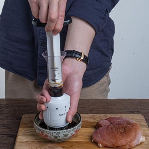Тендерайзер для мяса 2 в 1: отбивание мяса + шприц с маринадом EL-512