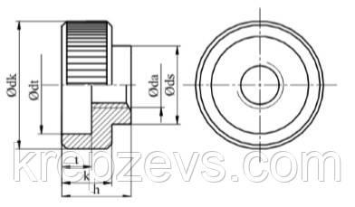 Гайки DIN 6303 купити - завод