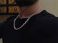 Серебряная цепочка 925 пробы . Якорь с гранями 80 грамм