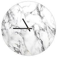 Настенные часы круглые Белый мрамор 36 см (CHR_P_ORG027)
