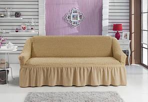 Чехол на диван трехместный, Турция, бежевый
