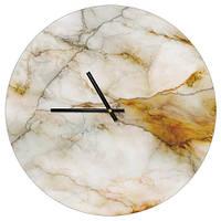 Настенные часы круглые Мрамор белый 36 см (CHR_P_ORG026)