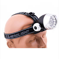 Фонарь на голову пластиковый 17LED, 539-17С