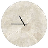 Настенные часы круглые Мрамор 36 см белые (CHR_P_ORG024)