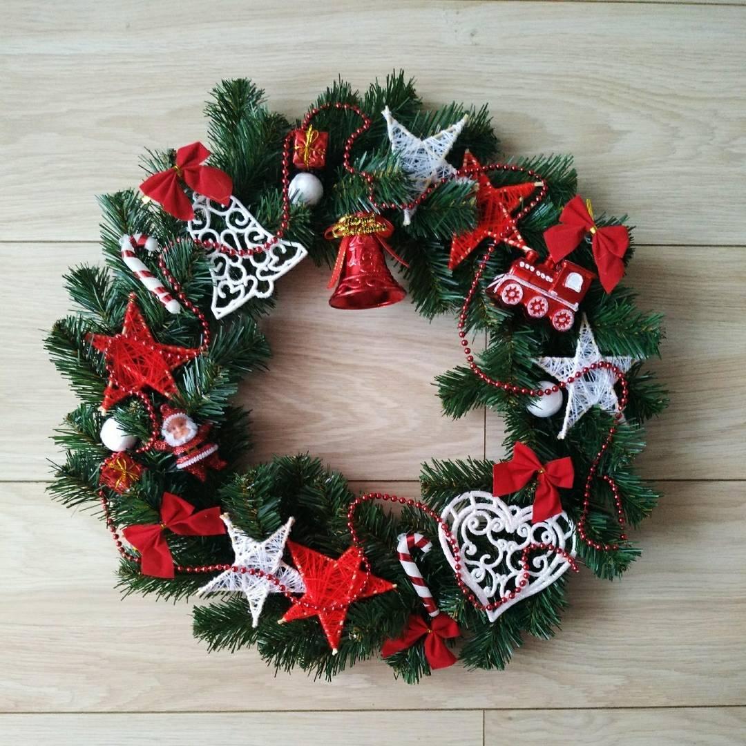 Новогодний, рождественский венок HandMade, диаметр ~ 45 см