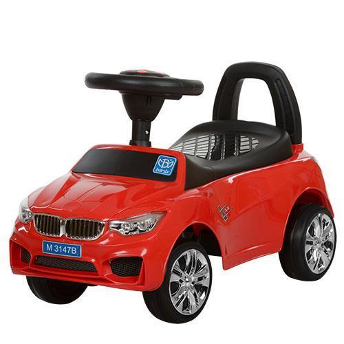 Толокар BMW (3147B-3),Красный, MP3, свет, звук