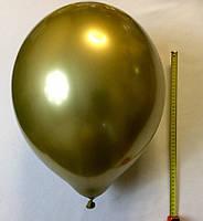 Воздушный шар хром золотой 45 см, фото 1