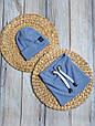 """Набор шапочка со снудом """"Hills"""", голубая, фото 3"""