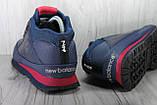 Демисезонные мужские ботинки синие New Balance 754 натуральная кожа, фото 5