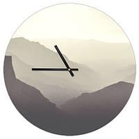 Настенные часы круглые Горы 36 см (CHR_P_ORG011)