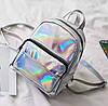 Женский рюкзак Мини Голограммный - в стиле Glamour 🎁 В подарок браслет и кукла, фото 3