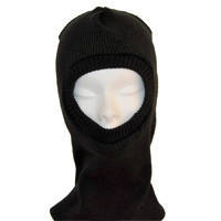 Подшлемник (шапка - маска) ОТ трикотажный двойной зима черный