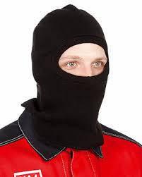 Подшлемник (шапка - маска) ОТ трикотажный двойной зима черный, фото 2