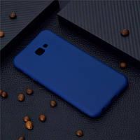 Чехол для Samsung J415 / J4 Plus 2018 силикон soft touch бампер темно-синий
