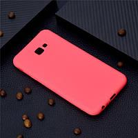Чехол для Samsung J415 / J4 Plus 2018 силикон soft touch бампер красный