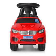 Толокар BMW (3147B-3),Красный, MP3, свет, звук, фото 2