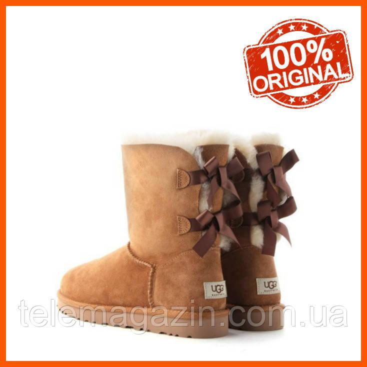 Угги женские зимние UGG Bailey Bow Boots Chestnut Оригинал