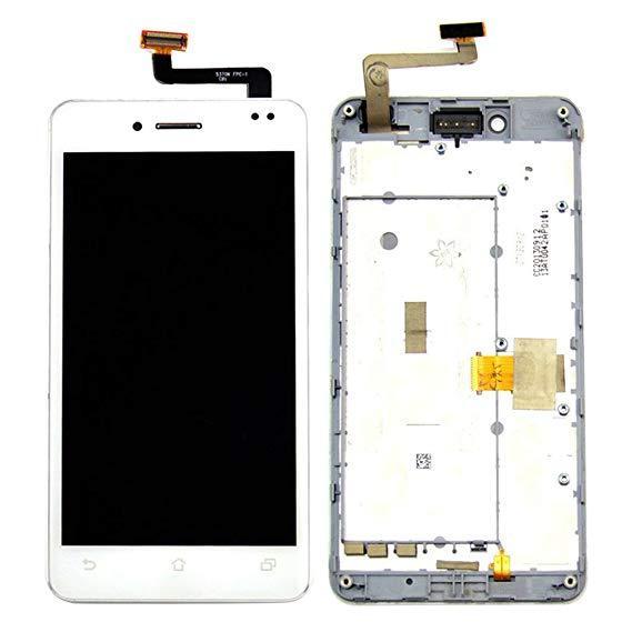 Дисплей для Asus A80 PadFone 3 Infinity с тачскрином и рамкой белый Оригинал