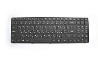 Оригинальная клавиатура для ноутбука LENOVO 500-15ACZ Black, RU, черная рамка, фото 1